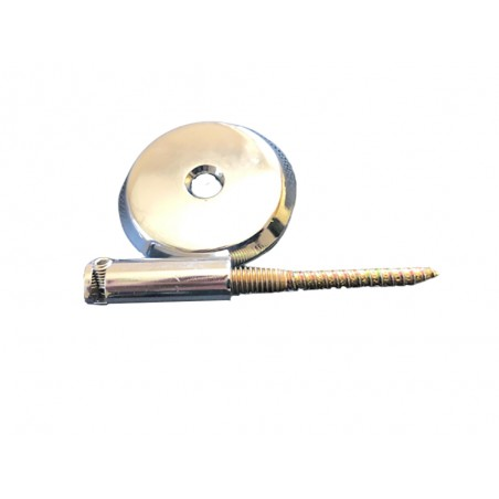 Support Central pour Tringle à Rideau Câble Métal Nickel Brillant