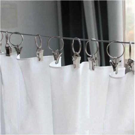 anneaux avec pince pour tringle a rideaux