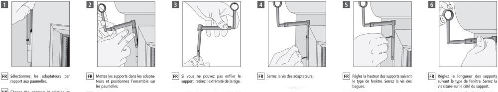 conseils de pose de support de tringle sans perçage pour fenêtre
