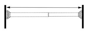 Ajustement de la longueur de la tringle autobloquante