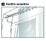 Support de tringle sans perçage pour fenêtre encastrée